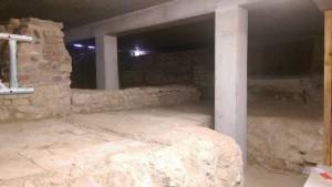 historisches museum frankfurt: Stadthaus-Bausstelle mit Ausgrabungen