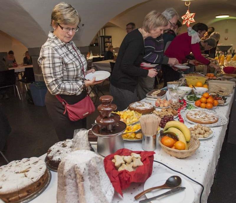Weihnachtsfeier der Mitarbeiter des hmf, Bernusgewölbe, historisches museum frankfurt, 08.12.2014