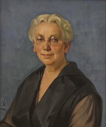 historisches museum frankfurt: Meta Quarck-Hammerschlag, Porträt von Ottilie W. Roederstein,  hmf