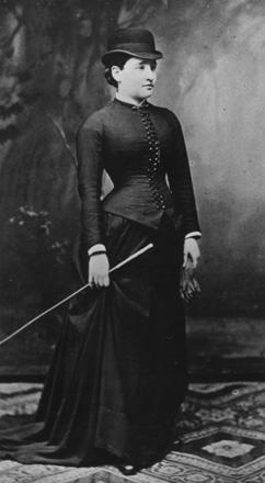 Bertha Pappenheim (1859-1936), Fotografie, 1882, Institut für Stadtgeschichte