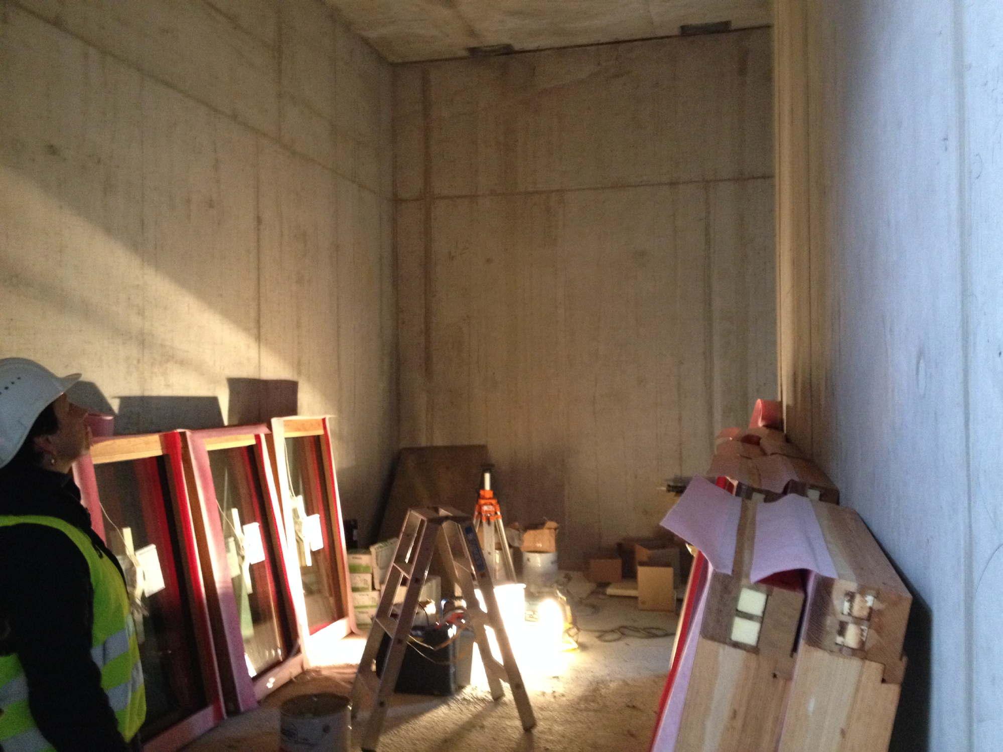 historisches museum frankfurt: das neue Ausstellungshaus im Febr. 2015 – das Studierzimmer
