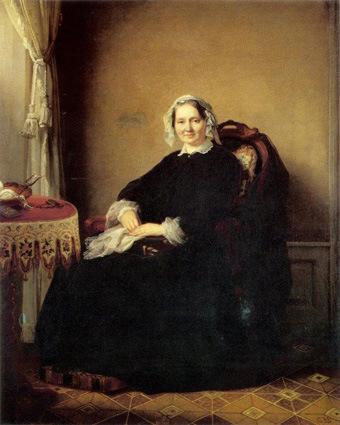 historisches museum frankfurt: Cäcilie Marianne Gontard 1851 (1791-1854), gemalt von Carl Engel von der Rabenau (1817-1870),, Privatbesitz