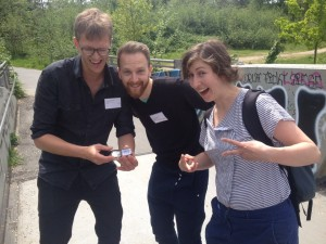 historisches museum frankfurt: Team Geocaching