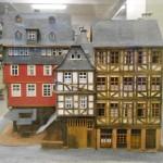 historisches museum frankfurt: Modell von Knott von der Südseite des Krönungsweges von der Goldenen Waage bis zum Roten Haus