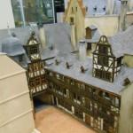 historisches museum frankfurt: Modell von Knott der drei nördlichen Häuser des Römerkomplexes