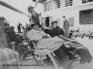 Max und Maidon Horkheimer bei der Überfahrt nach New York, 1934 [© Jüdisches Museum Frankfurt]
