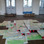 historisches museum frankfurt: Karteninstallation Pop-Up-Ausstellung Sommertour 2015