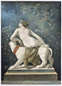 historisches museum frankfurt: Ariadne von Dannecker. Aquarell von Johann Adam Ackermann 1817