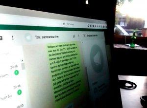 Historisches Museum Frankfurt: Whatsapp-Liveticker