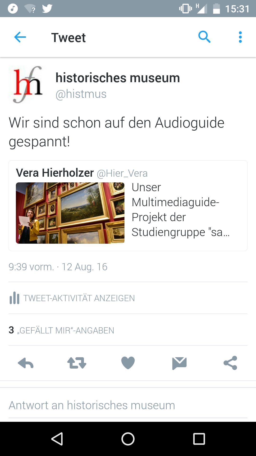Histoirsches Museum Frankfurt: Wir sind schon auf den Audioguide gespannt