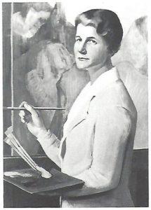 historisches museum frankfurt: Hanna Bekker vom Rath an der Staffelei, Ottilie W. Roederstein (1859-1937), 1937, Öl auf Leinwand, Verbleib unbekannt.