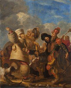 """Historisches museum frankfurt: """"Küfer und Häfner in Karnevalskleidung"""", Pieter Jansz. Quast, B0619"""