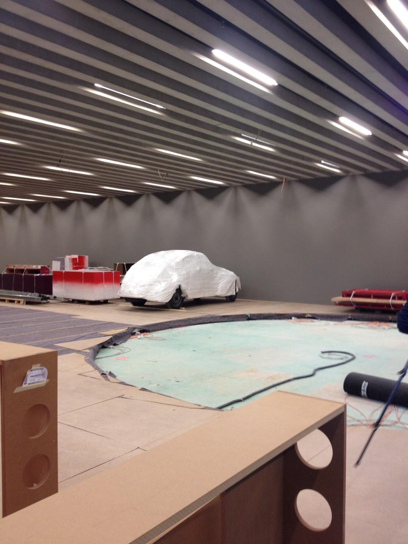historisches Museum Frankfurt: Einbringung des Adler Autobahn