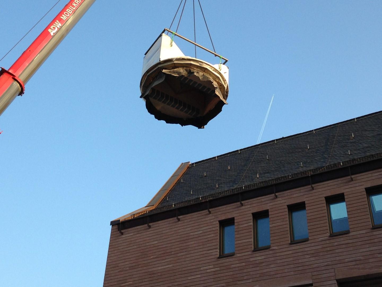 historisches museum frankfurt: Die Anlieferung des Persikops 4