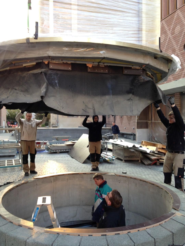 historisches museum frankfurt: Die Anlieferung des Persikops 7