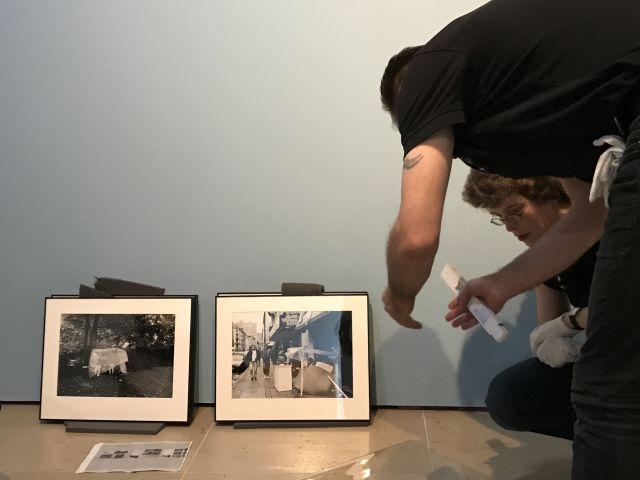 historisches museum frankfurt: Ausstellung Ganter - Aufbau Besprechung