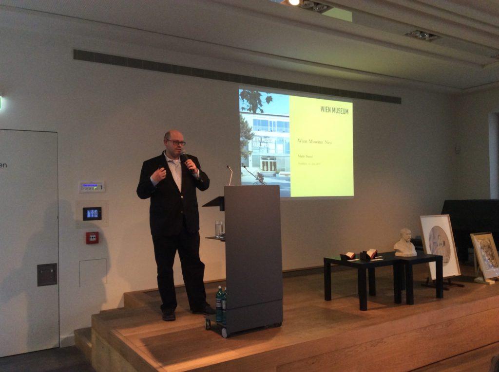 Matti Bunzl, Direktor des Wien Museums, stellt die Neukonzeption seines Hauses vor.