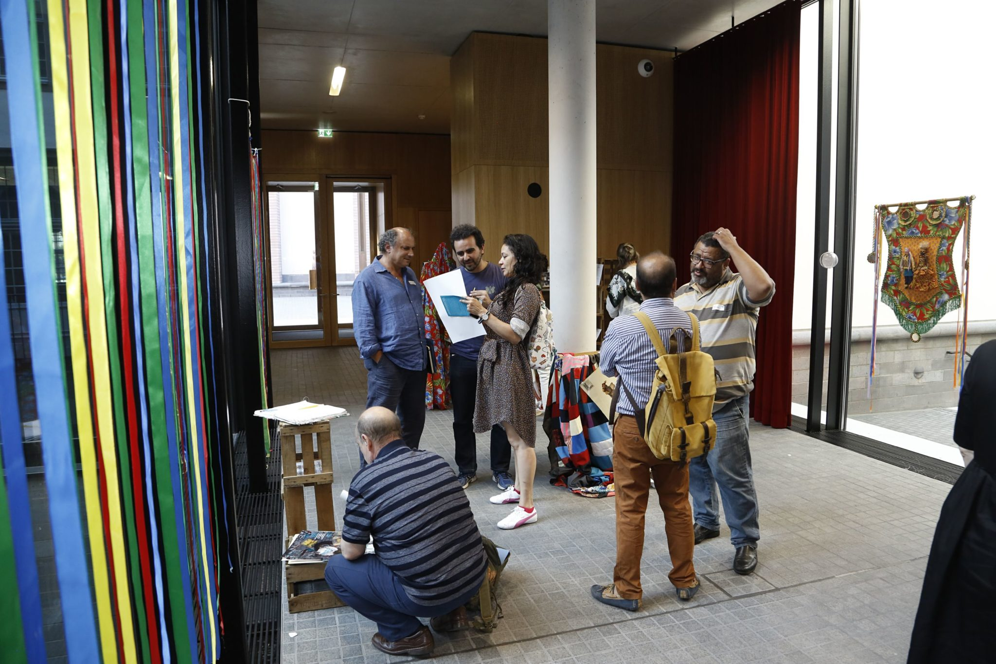 historisches museum frankfurt: the subjective Museum - Portuguese and Brazilian delegation at the Muquifu pop up exhibition, Photo: U. Dettmar