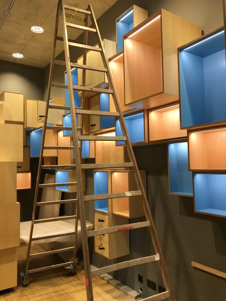 historisches museum frankfurt: im Studierzimmer ist es schoen blau