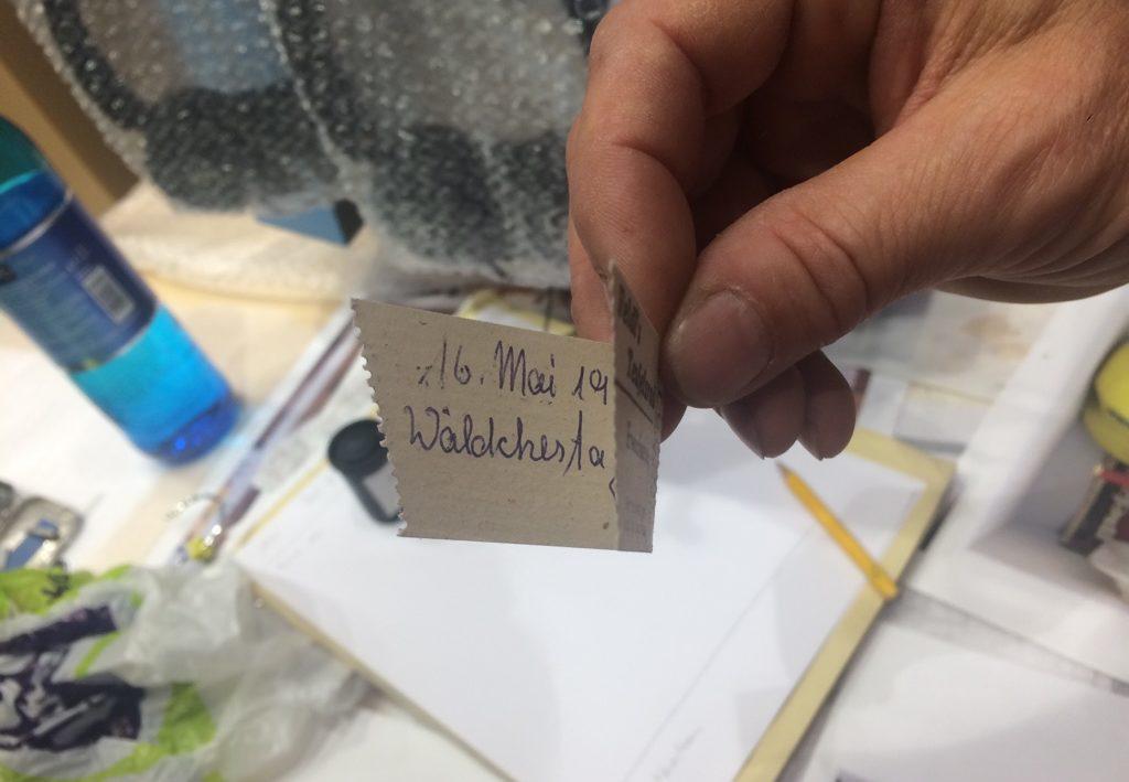 historisches museum frankfurt: Authentische Erinnerungen: Karsten Bott sammelt handschriftliche Notiz eines Jahrmarktbesuchers