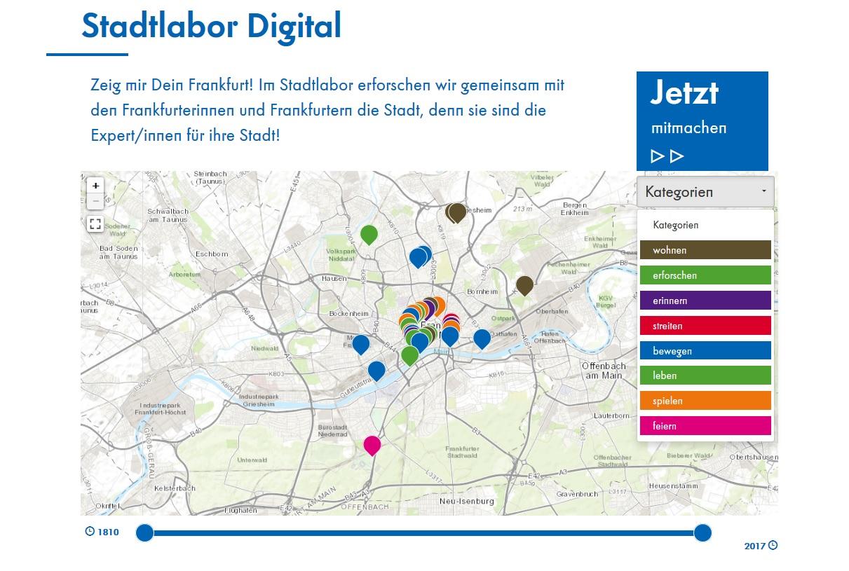 Historische Museum Frankfurt - Stadtlabor Digital Startseite