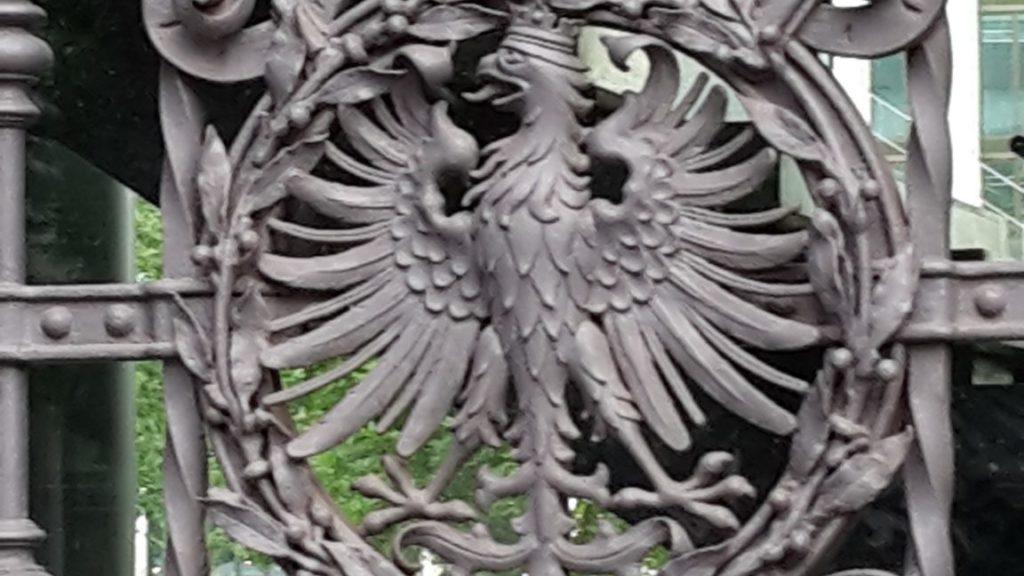 historisches museum frankfurt: Adler-Detail, Foto E. Neubronner