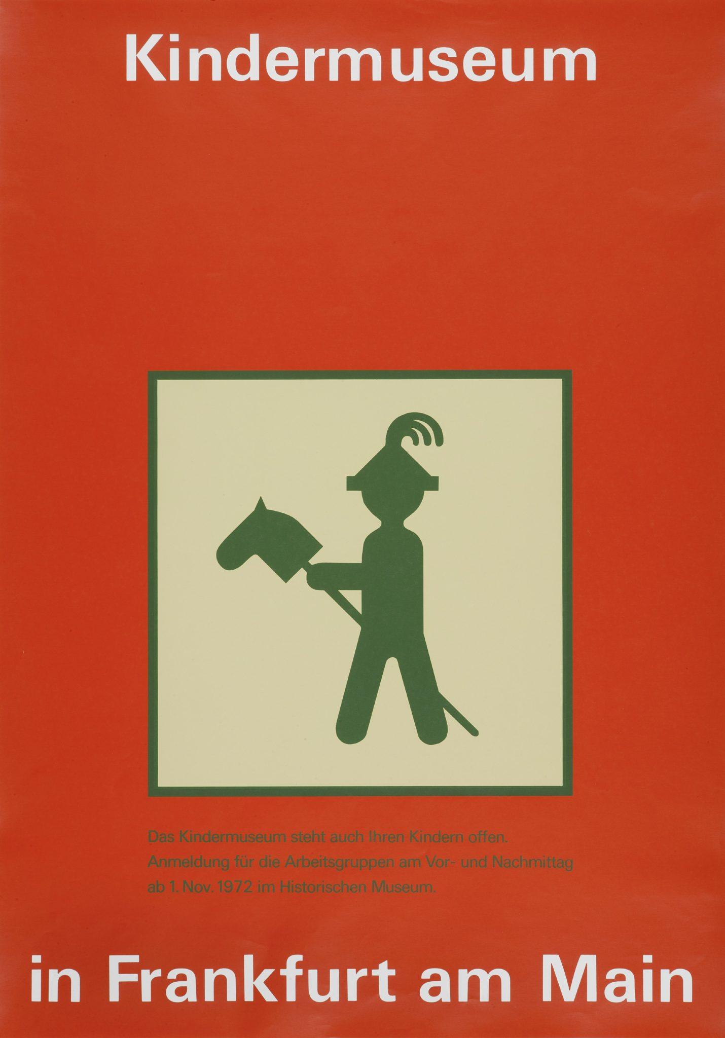 Kindermuseum Frankfurt - erstes Plakat des Kindermuseums (1972)