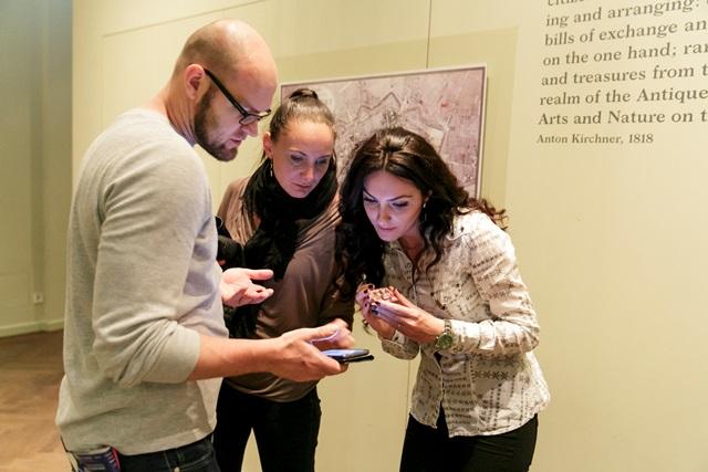 historisches museum frankfurt: Selfie-Aktion bei der langen Nacht der Museen 2017