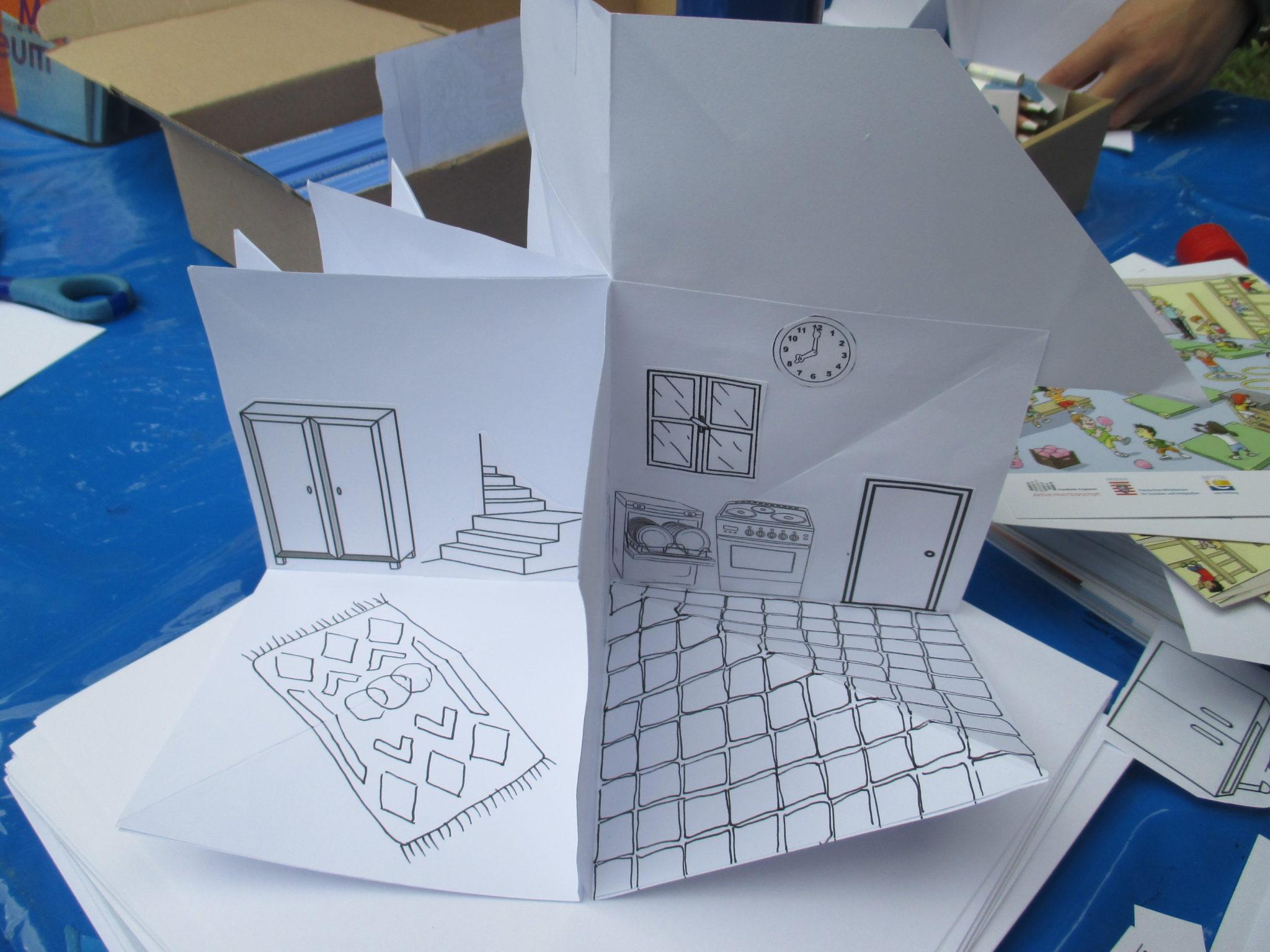 Falthäuser zum Gestalten und Einrichten