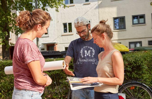 Feldforschung Heimatsiedlung – Materialübergabe