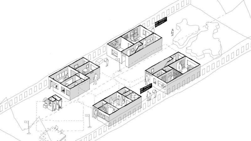 Plan der Ausstellung mit Ausstellungsarchitektur