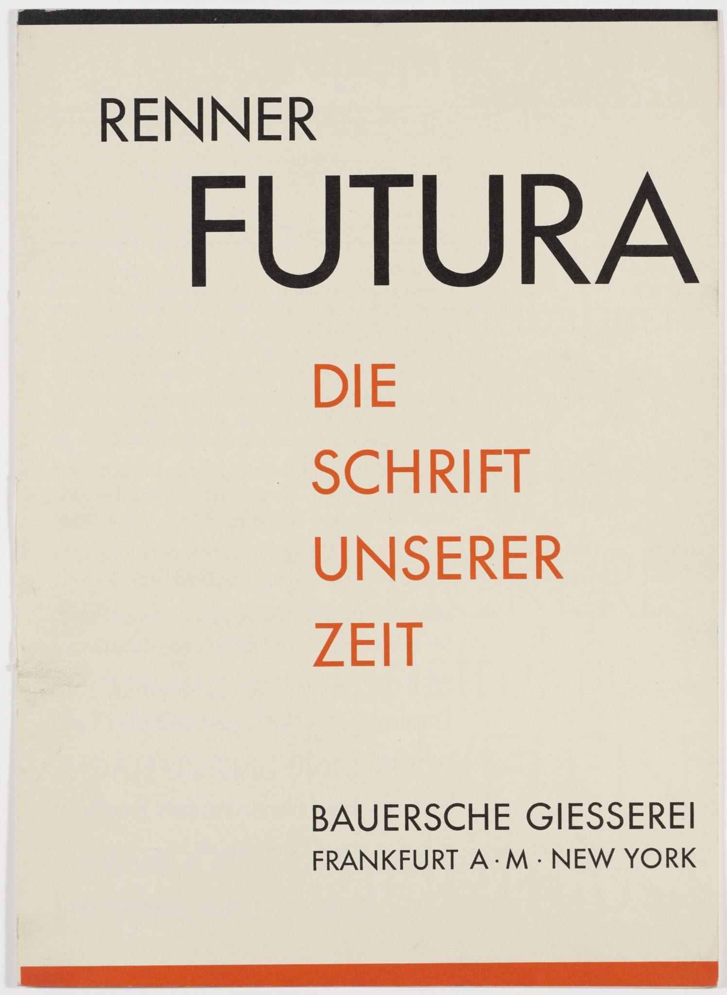 Karton bedruckt mit Futura - Die Schrift unserer Zeit