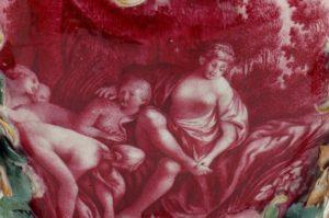 Purpurmalerei mit mythologischer Szene