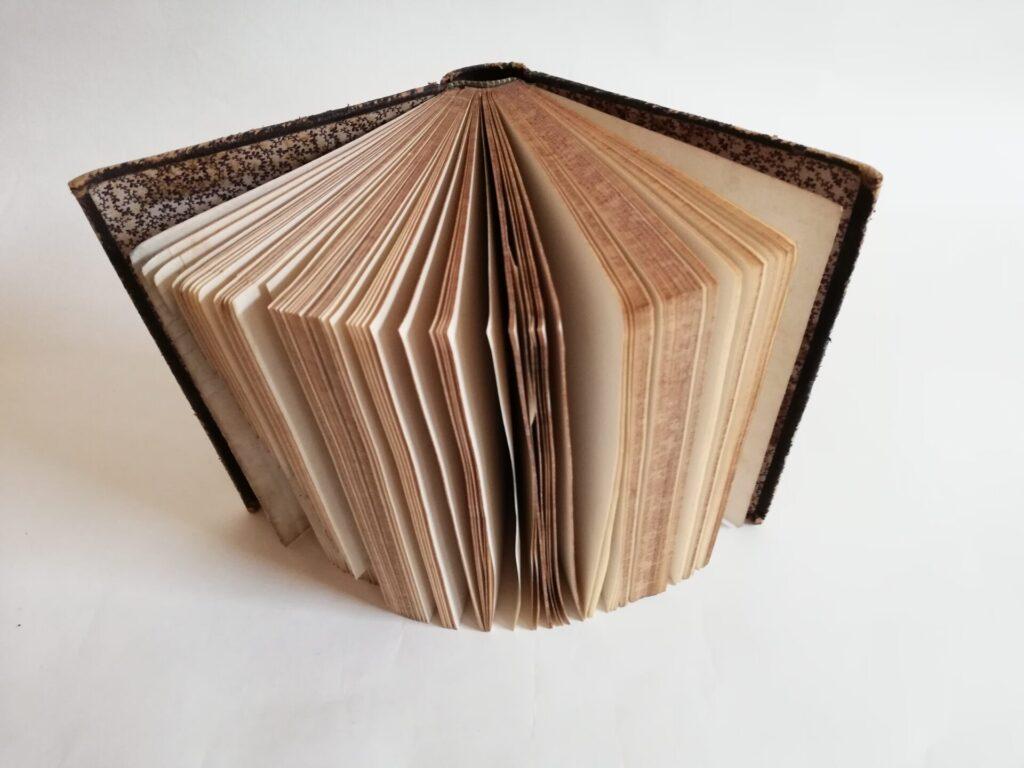 aufgestelltes Buch