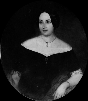 Porträt einer Dame in schwarz-weiß